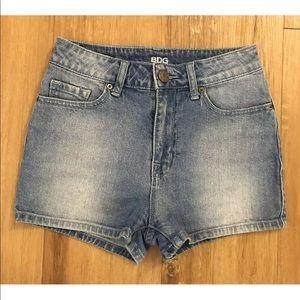 BDG Erin High Rise 5 Pocket Shortie Jean Shorts